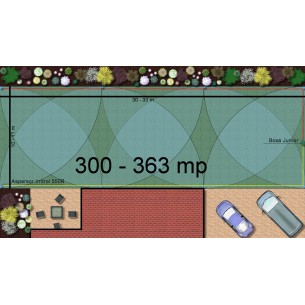 Kit irigare gazon 300-363 m2 Irritrol cu programator pe baterie 9V