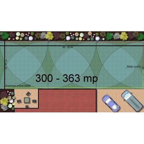 Kit irigare gazon 300-363 m2 Irritrol cu programator interior