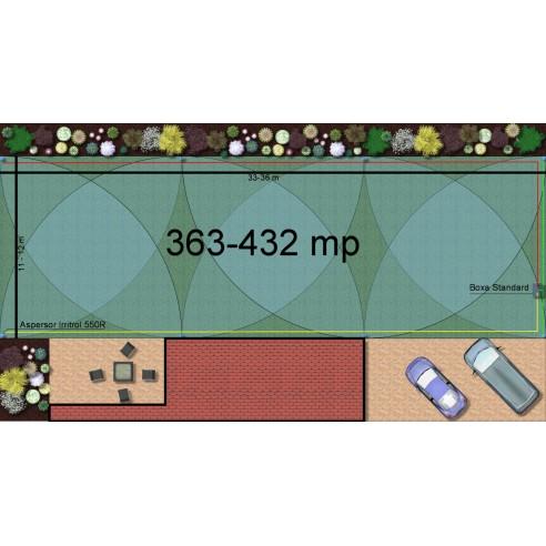 Kit irigare gazon 363-432 m2 Irritrol cu programator pe baterie 9V