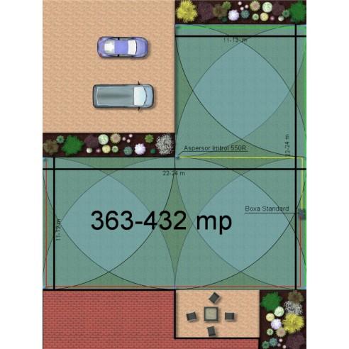 Kit irigare gazon 363-432 m2 Irritrol cu programator interior