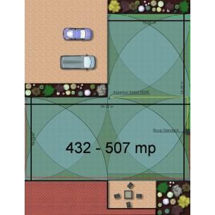 Kit irigare gazon 432-507 m2 Irritrol cu programator pe baterie 9V