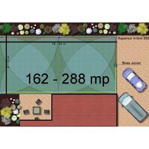 Kit irigare gazon 162-288 m2 Irritrol cu programator interior