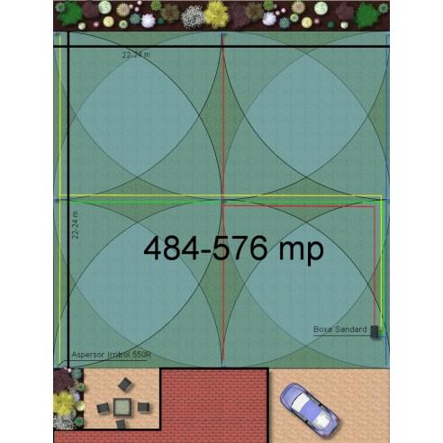 Kit irigare gazon 484-576 m2 Irritrol cu programator WiFi