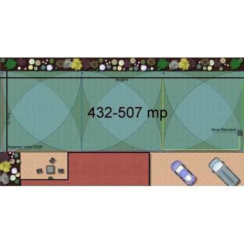Kit irigare gazon 432-507 m2 Irritrol cu programator WiFi