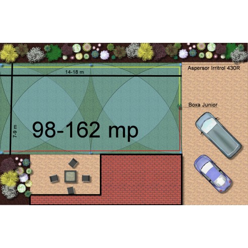 Kit irigare gazon 98-162 m2 Irritrol cu programator WiFi