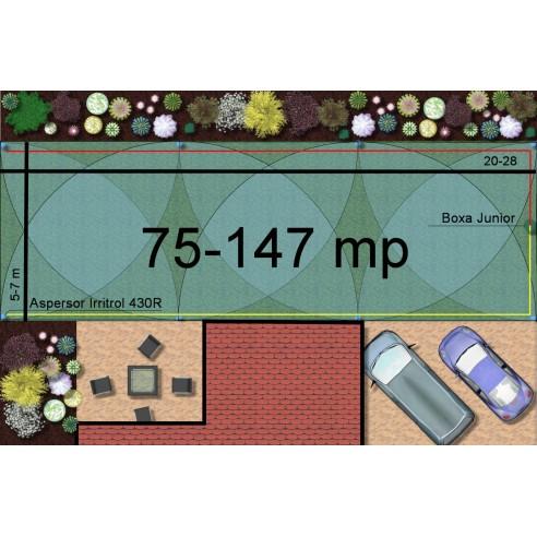 Kit irigare gazon 75-147 m2 Irritrol cu programator WiFi