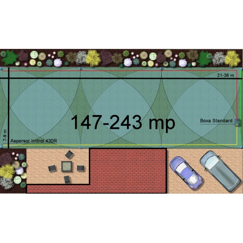 Kit irigare gazon 147-243 m2 Irritrol cu programator WiFi