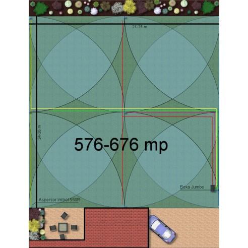Kit irigare gazon 576-676 m2 Hunter cu programator WiFi