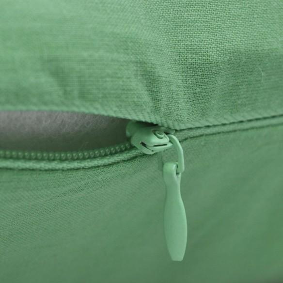 Huse de pern? din bumbac, 40 x 40 cm, m?r verde, 4 buc.