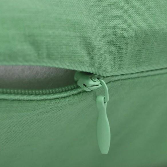 Huse de pern? din bumbac, 80 x 80 cm, verde m?r, 4 buc.