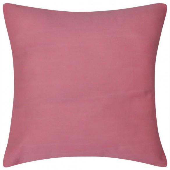 Huse de pern? din bumbac, 40 x 40 cm, roz, 4 buc.