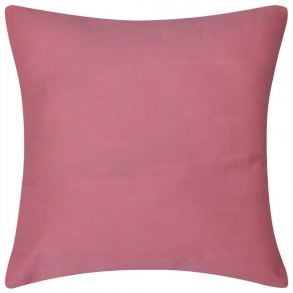 Huse de pern? din bumbac, 50 x 50 cm, roz, 4 buc.