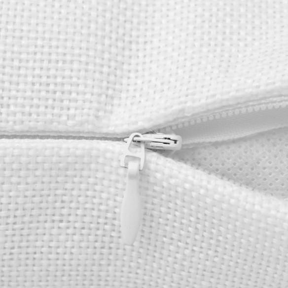 Huse de pern? cu aspect de pânz?, 50 x 50 cm, alb, 4 buc.