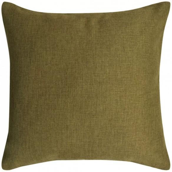 Huse de pern? cu aspect de in, 50 x 50 cm, verde, 4 buc.
