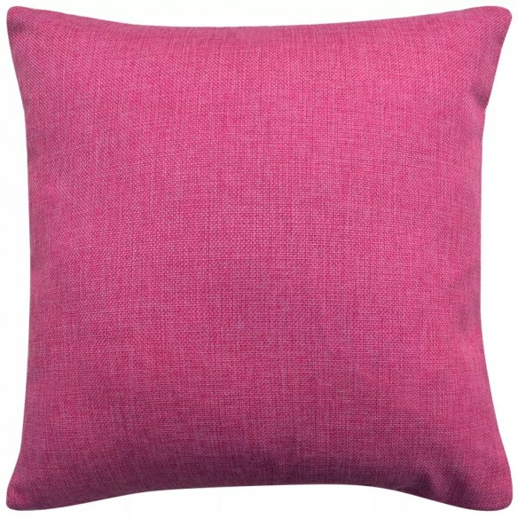 Huse de pern? cu aspect de in 50 x 50 cm, roz, 4 buc.