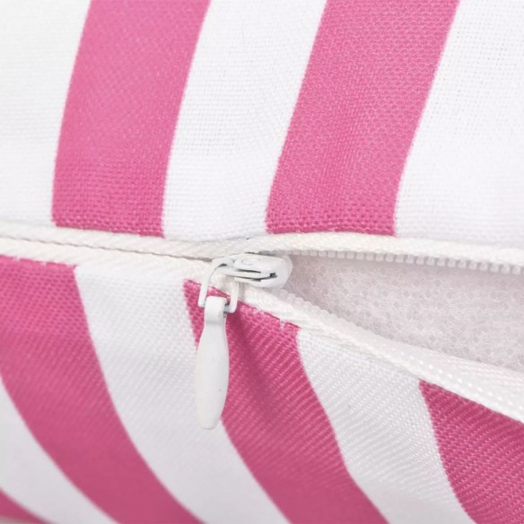 Perne de exterior, 4 buc., roz, 45 x 45 cm, imprimeu dungi