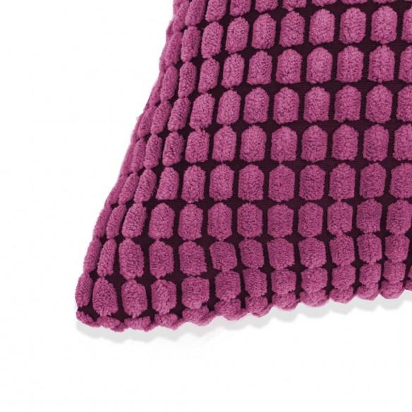 Set perne decorative 2 buc. Velur 45 x 45 cm Roz