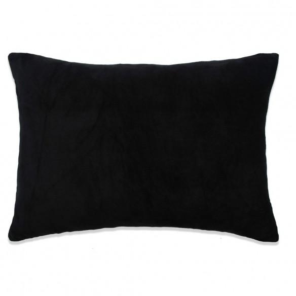 Set perne decorative 2 buc, velur 40 x 60 cm, negru
