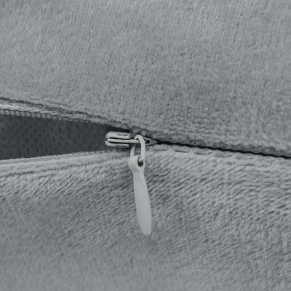 Set perne decorative 2 buc, velur 45 x 45 cm, gri