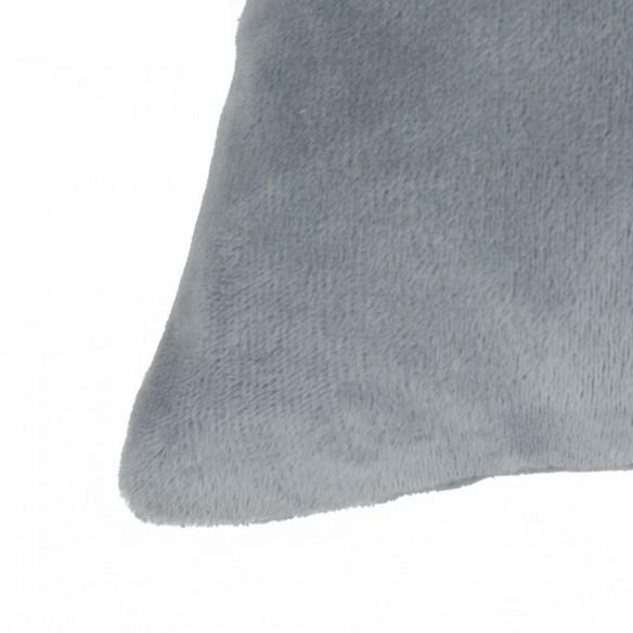 Huse de perne decorative 4 buc. Velur 40x40 cm Gri
