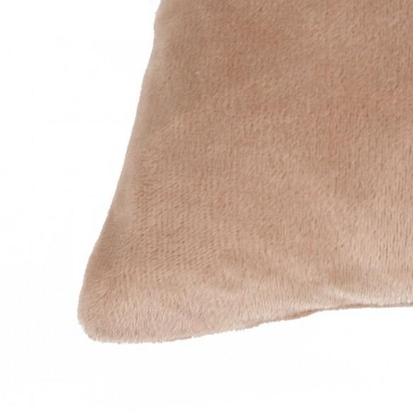 Set perne decorative, 2 buc, velur 45 x 45 cm, bej