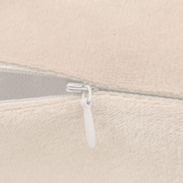 Set de perne decorative, 2 buc, velur 45 x 45 cm, ivoar