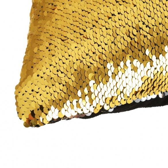 Set perne cu paiete, 2 buc., 45 x 45 cm, auriu ?i argintiu
