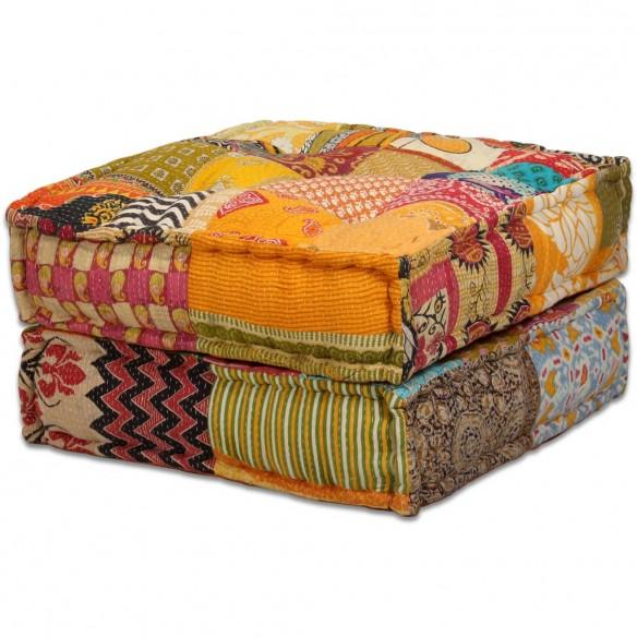 Canapea puf modular? cu 4 locuri, petice, material textil