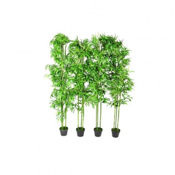 Set de 4 bambu?i artificiali pentru decor 190cm
