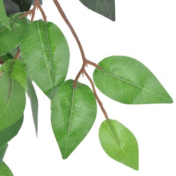 Ficus artificial cu aspect natural ?i ghiveci, 90 cm