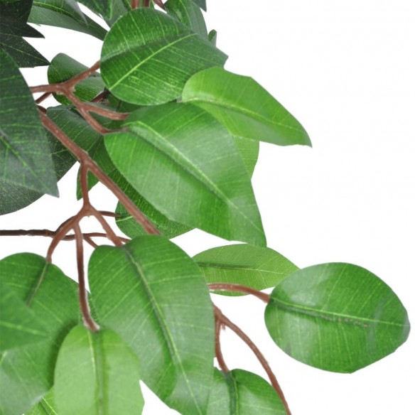 Ficus artificial cu aspect natural ?i ghiveci, 110 cm