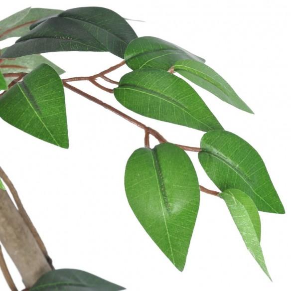 Ficus artificial cu aspect natural ?i ghiveci, 160 cm
