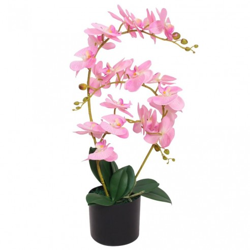 Plant? artificial? orhidee cu ghiveci, 65 cm, roz