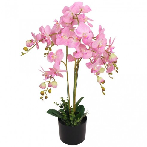 Plant? artificial? orhidee cu ghiveci, 75 cm, roz