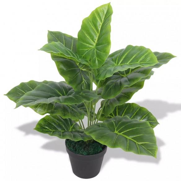 Plant? artificial? Taro cu ghiveci, 45 cm, verde