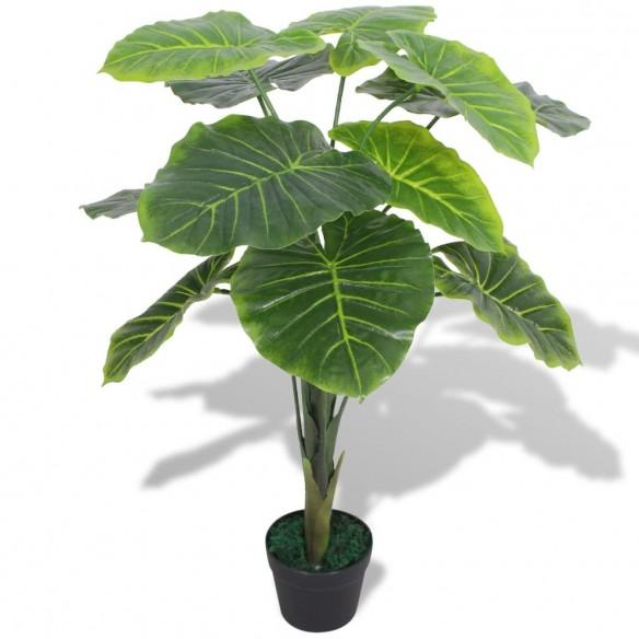 Plant? artificial? Taro cu ghiveci, 70 cm, verde