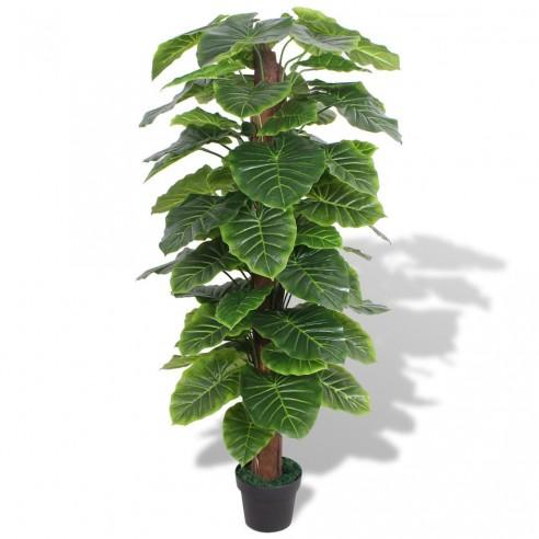 Plant? artificial? Taro cu ghiveci, 145 cm, verde