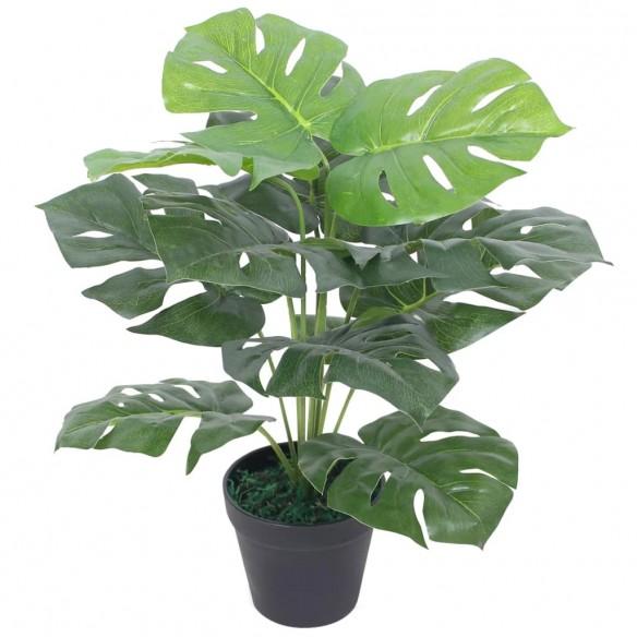 Plant? artificial? Monstera cu ghiveci, 45 cm, verde