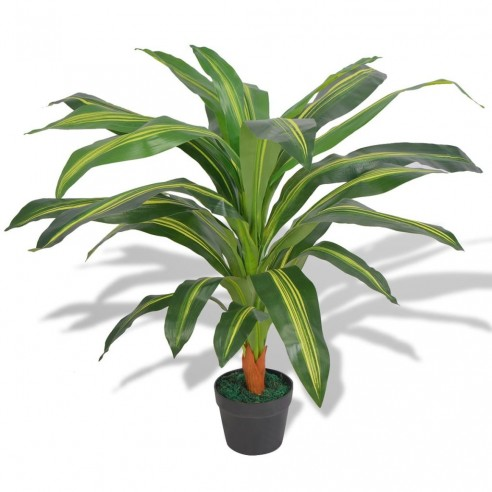 Plant? Dracena artificial? cu ghiveci, 90 cm, verde