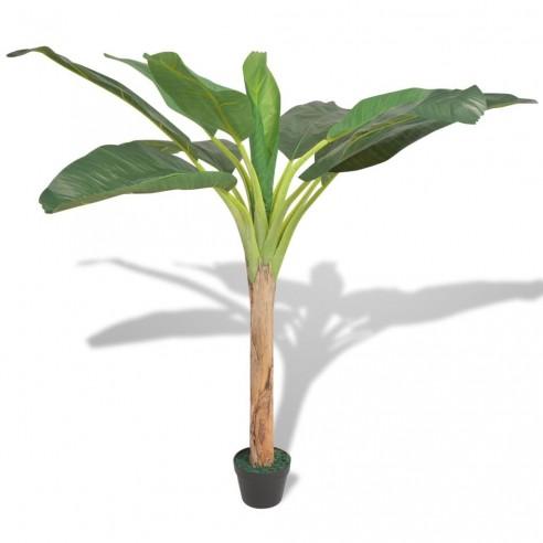 Bananier artificial cu ghiveci, 150 cm, verde