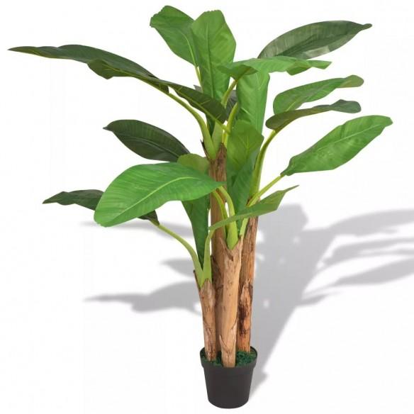 Bananier artificial cu ghiveci, 175 cm, verde