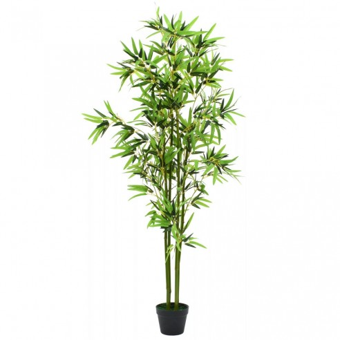 Plant? bambus artificial cu ghiveci 175 cm, verde