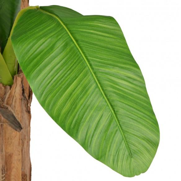 Bananier artificial cu ghiveci, 250 cm, verde