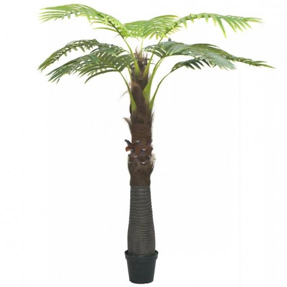 Palmier artificial cu ghiveci, verde, 253 cm