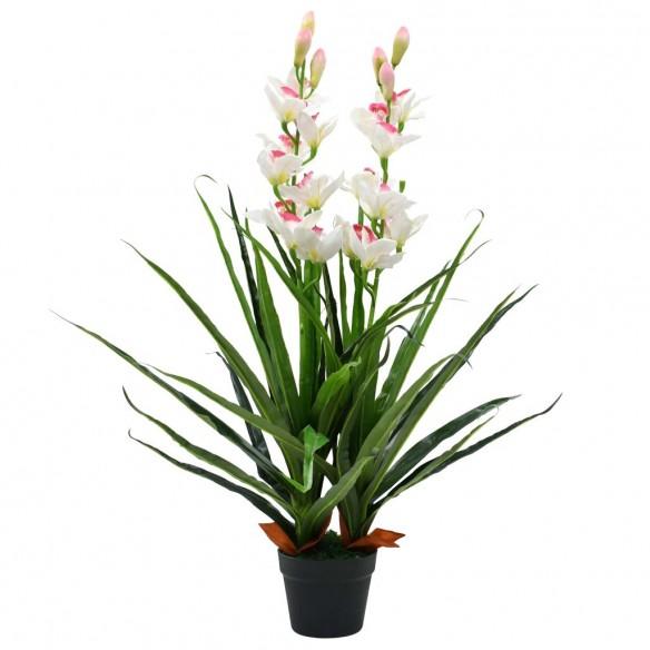 Plant? artificial? Orhidee Cymbidium cu ghiveci 100 cm verde