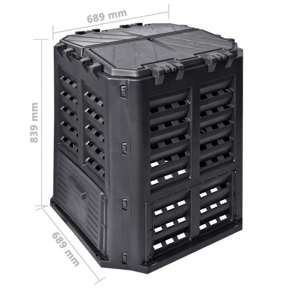 Compostor de gr?din?, negru, 68,9x68,9x83,9 cm, 360 L