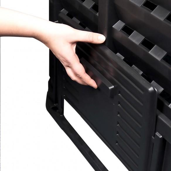 Compostor de gr?din?, negru, 93,3x93,3x80 cm, 480 L