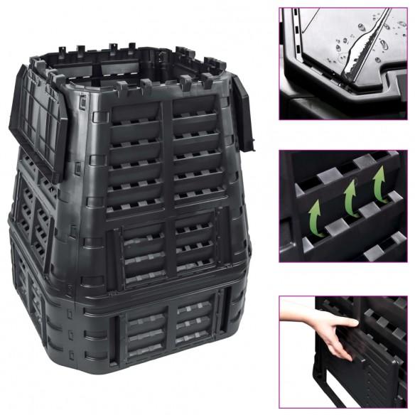 Compostor de gr?din?, negru, 93,3x93,3x113 cm, 740 L