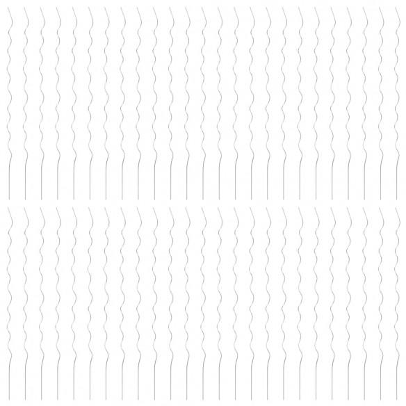 Spirale pentru suport plante, 50 buc., 170 cm, o?el galvanizat