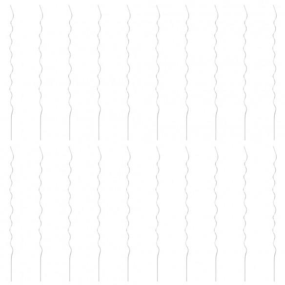Spirale pentru suport plante, 20 buc., 170 cm, o?el galvanizat